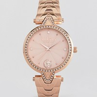 Versus Versace V Crystal VSPCI3717 Bracelet Watch In Rose Gold 34mm at asos.com
