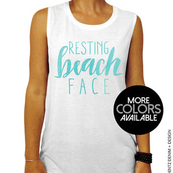 Resting Beach Face Muscle Tee Tank T-shirt