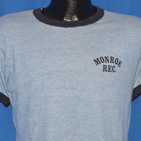 80s Monroe Rec. Rayon Tri Blend Ringer t-shirt Medium