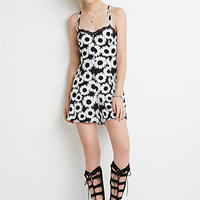 Strappy Daisy Print Dress