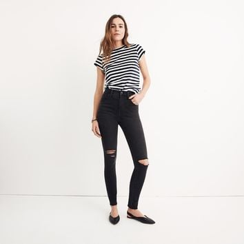 Curvy High-Rise Skinny Jeans in Black Sea : shopmadewell high-rise skinny jeans | Madewell