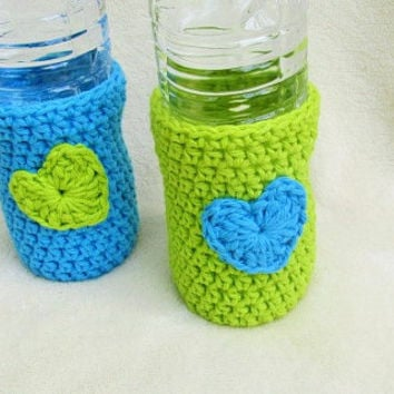 Crochet Beer Cozy, Water Bottle Cozy, Set of Bottle Cozies, Beach Gear, Bottle Protector, Beer Bottle Holder, Water Bottle Holder, Koozie,