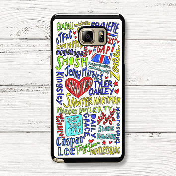 Youtubers Collage Samsung Galaxy Case, iPhone 4s 5s 5c 6s Cases, iPod Touch 4 5 6 case, HTC One case, Sony Xperia case, LG case, Nexus case, iPad case, Cases