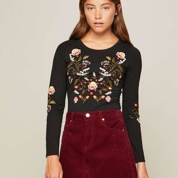 PETITE Embroidered Body | Missselfridge