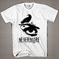 Nevermore  Mens and Women T-Shirt Available Color Black And White