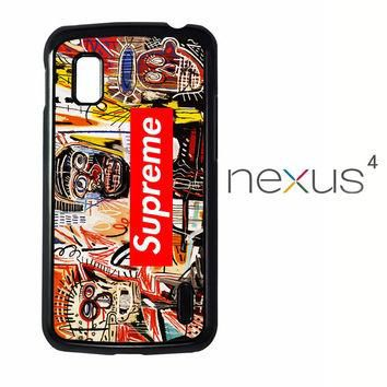 supreme to release collection featuring basquiats V1635 LG Nexus 4 Case