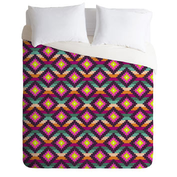 Bianca Green Aztec Diamonds Hammock Duvet Cover