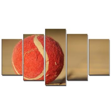 Family Friends party Board game 5PCS Volleyball Posters and Prints Tennis Baseball Bowling Sport Still Life Wall Art Canvas Painting for Bedroom Home Wall Decor AT_41_3