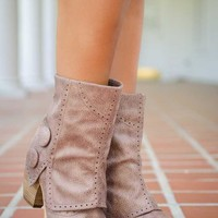 Pink Coconut Boutique | Our Crazy, Beautiful Love Bootie - Taupe
