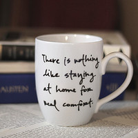 Jane Austen Quote Mug by Brookish on Etsy