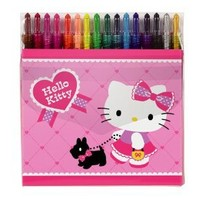 Hello Kitty Twist Up 16 Crayons: Terrier