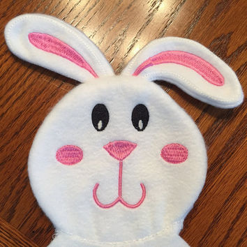 Maddy's Lovie Baby Bunny -  Security Blanket