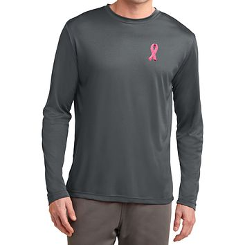 Buy Cool Shirts Breast Cancer T-shirt Embroidered Ribbon Dry Wicking Long Sleeve