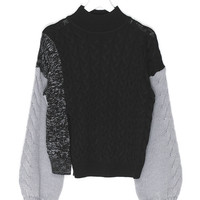 Wool Blend Twisted Sweater