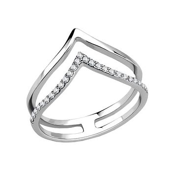 Aria - Women's Stainless Steel CZ Ring