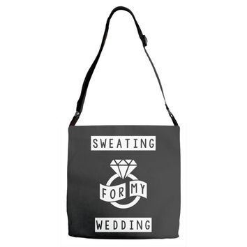Sweating For The Wedding Adjustable Strap Totes