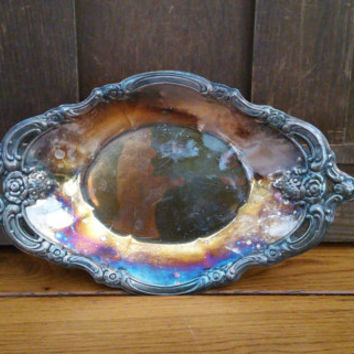 Vintage Community Silverplate Tray Platter Serving Dish Bowl Perfect for Entertaining