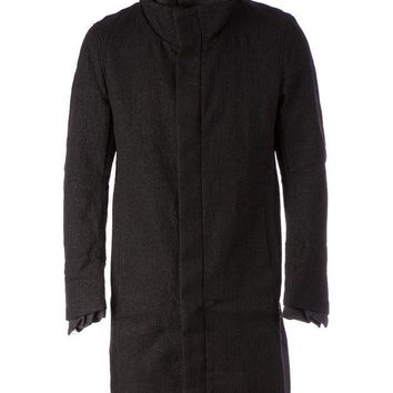 DCCKIN3 Individual Sentiments layered funnel neck coat