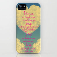 Cloudy Heart  iPhone Case by Devin Stout | Society6