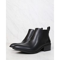 bc footwear modern chelsea ankle boot - partner - black