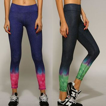 ac VLXC Korean Yoga Fitness Workout Quick Dry Pants Cropped Pants [10195856972]