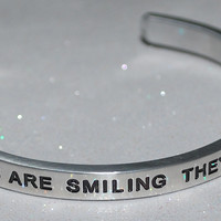 When Irish Eyes Are Smiling They're Up To Something  |  Engraved Handmade Bracelet by: Say It and Wear It Jewelry