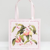 Ted Baker Small Icon Bag in Peach Blossom Print at asos.com