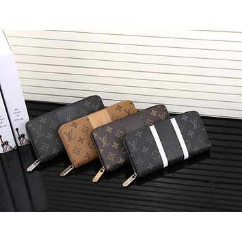 Tagre™ Louis Vuitton Classic Logo Letter Print Long Section Zip Double Layer Wallet Handbag Purse