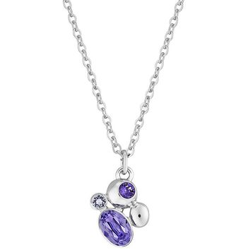 Swarovski Tanzanite Crystal Pendant CALMLY Rhodium Plated Necklace #5101326
