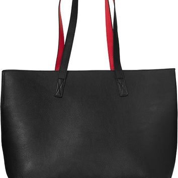 Old Navy Reversible Faux Leather Tote Size One Size - Black 052db9c661