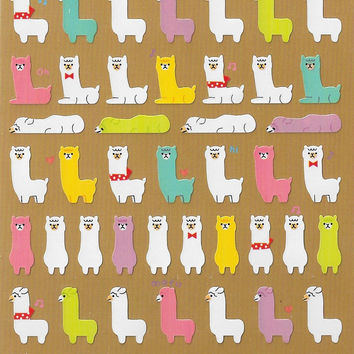 Alpaca Scrapbook Stickers