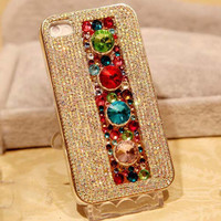 Unique Gem Crystal Full Drill Handmade Case For Iphone 4/4s/5