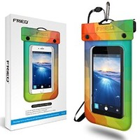 FRiEQ Floating Waterproof Case Bag for Outdoor Activities - Perfect for Boating / Kayaking / Rafting / Swimming - Waterproof bag / Waterproof Life Pouch / Dry Bag for Apple iPhone 6, 5S, 5C, 5; Galaxy S6, S4, S3; HTC One X, Galaxy Note 3, Note 2; LG G2 - P