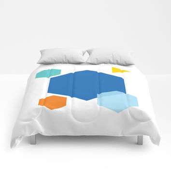 Color Cubes Comforters by spaceandlines