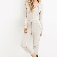 French Terry Hoodie Jumpsuit