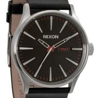 Nixon, Sentry Leather Watch - Black - Watches - MOOSE Limited