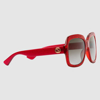 Gucci Oversize square-frame acetate sunglasses
