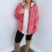Teddy Bear Jacket: Dusty Red