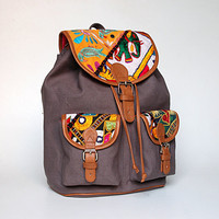 India Tapestry Backpack by ShaunDesign on Etsy