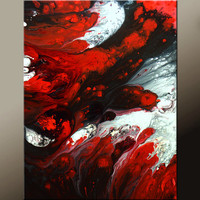 Abstract Art  Painting 18x24 Canvas Contemporary Art Paintings by Destiny Womack - dWo - Embracing the Light