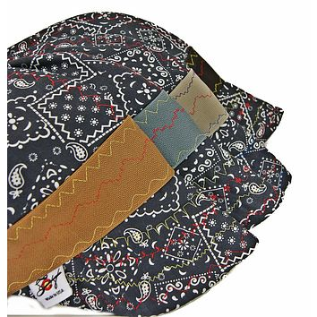 ❄️Winter Weight❄️ Flannel Lined Black Paisley Hybrid Welding Cap