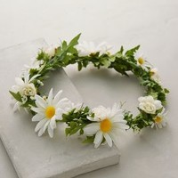 Spring Petals Flower Crown by Anthropologie Green One Size Hair