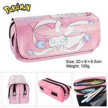 Sylveon Boy Girl Cartoon Pencil Case Bag School Pouches Children Student Pen Bag Kids Purse Wallet GiftsKawaii Pokemon go  AT_89_9