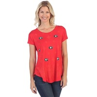 Georgia Bulldogs Lace Dolman Short Sleeve Tee | UGA Lace Dolman Tee | Georgia Bulldogs Lace Shirt