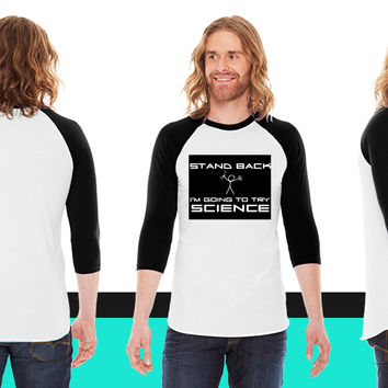 Try Science American Apparel Unisex 3/4 Sleeve T-Shirt