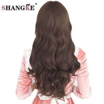 ICIKION SHANGKE 26'' Long Synthetic Wigs for Black Women  Long Brown Hair Wigs For African Americans wavy Heat Resistant Fake Hairpieces