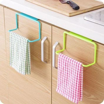 ONETOW Kitchen Organizer Towel Rack Hanging Holder Bathroom Cabinet Cupboard Hanger Shelf For Kitchen Supplies Accessories Cocina *40