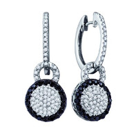 Diamond Fashion Earrings in 10k White Gold 0.52 ctw