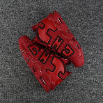 Best Deal Online Nike Air More Uptempo x Chicago Red Black Men Sneakers Women Sports Shoes