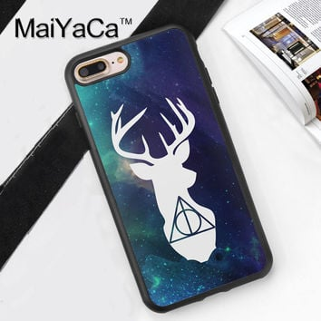 Harry Potter deer patronus deathly hallows TPU Phone Case Funda For iPhone 7 7Plus 6 6S Plus 5 5S 5C SE 4S Back Cover Skin Shell